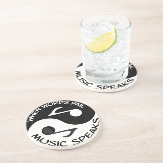 Yin yang music coaster