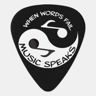 Yin yang music plectrum