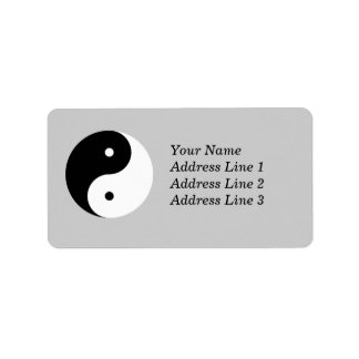 Yin Yang Name Address Mailing or Name Tag Label
