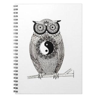 Yin-Yang Owl Notebook