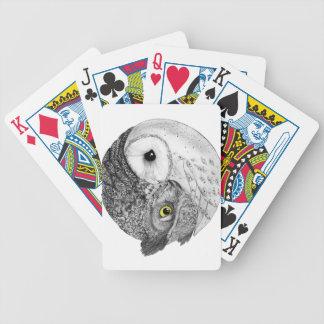 Yin Yang Owls Bicycle Playing Cards