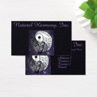 Yin Yang Owls Business Card