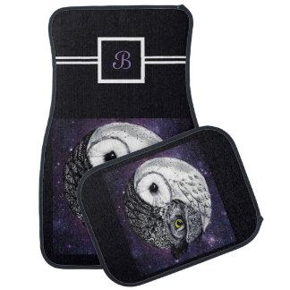Yin Yang Owls Car Mat