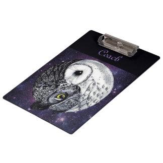 Yin Yang Owls Clipboard