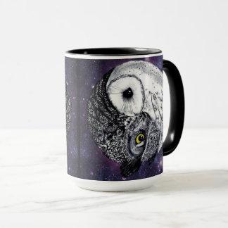 Yin Yang Owls Mug