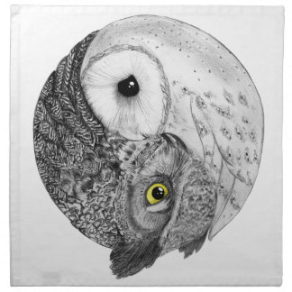 Yin Yang Owls Napkin