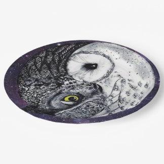 Yin Yang Owls Paper Plate