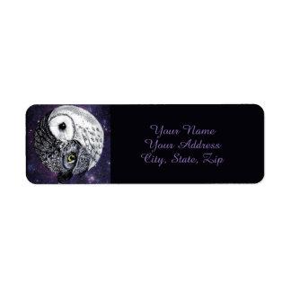 Yin Yang Owls Return Address Label
