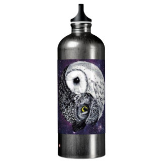 Yin Yang Owls Water Bottle