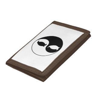 Yin Yang Penguin Trifold Wallet