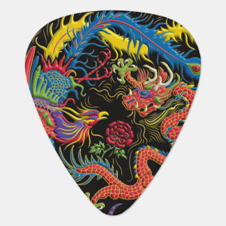 Yin Yang Phoenix and Dragon Guitar Pick
