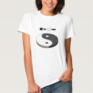 Yin Yang Pie Chart Tshirts