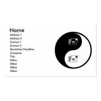 Yin Yang Postal Service Business Card Template