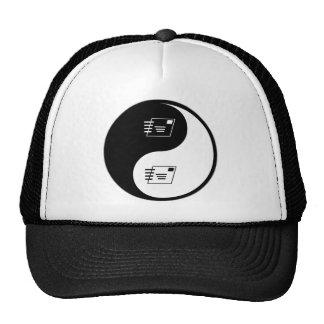 Yin Yang Postal Service Mesh Hats