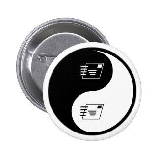 Yin Yang Postal Service Pinback Buttons