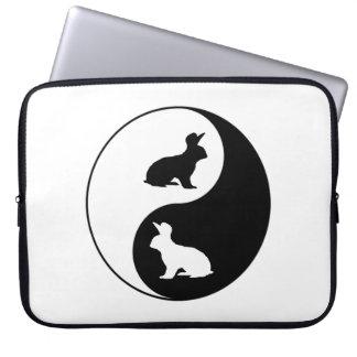Yin Yang Rabbits Laptop Sleeve