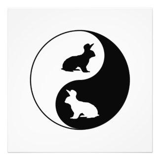 Yin Yang Rabbits Photo Print
