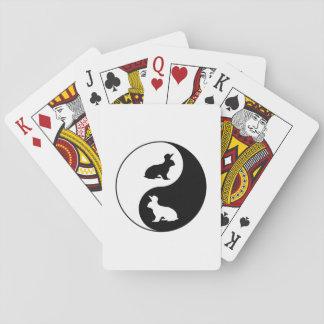 Yin Yang Rabbits Playing Cards