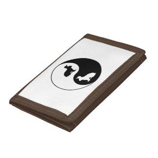Yin Yang Rabbits Trifold Wallet