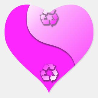 Yin Yang - Recycle Heart Sticker