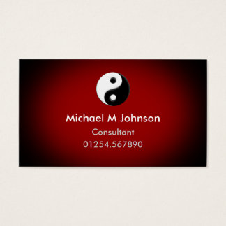 Yin Yang Red Business Card