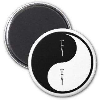Yin Yang Rehabilitation 6 Cm Round Magnet