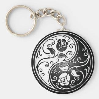 Yin Yang Roses Key Ring