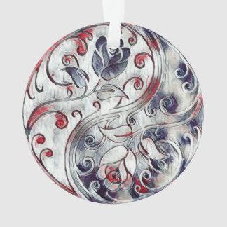 Yin Yang Roses Ornament