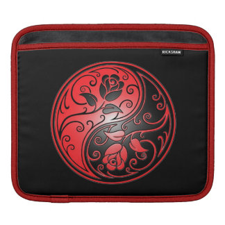 Yin Yang Roses, Red and Black Sleeves For iPads