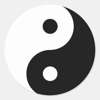 Yin Yang Round Sticker
