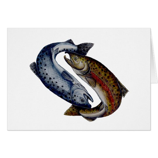 Yin Yang Salmon Fish Card