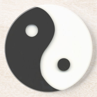 Yin & Yang Sandstone Drink Coaster