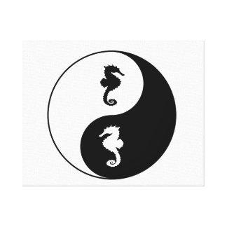 Yin Yang Seahorse Canvas Print