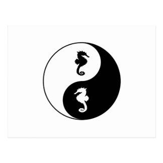 Yin Yang Seahorse Postcard