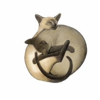 Yin Yang Siamese Cats Holiday Ornament Photo Cut Outs