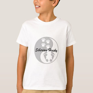 yin yang siberian husky tshirt