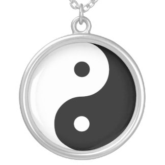 Yin Yang Silver Plated Necklace