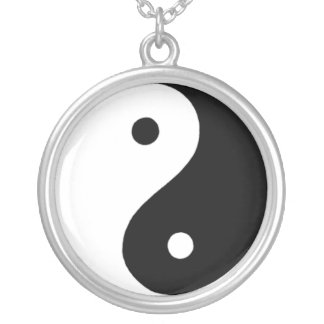 Yin/Yang Silver Plated Necklace