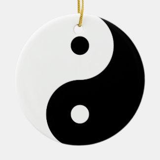 """YIN YANG"" (single-sided) Ceramic Ornament"