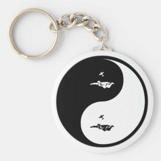 Yin Yang Skydiving Key Ring