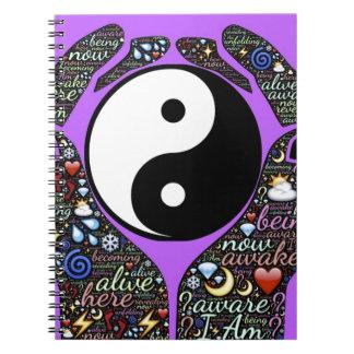 Yin, Yang Spiral Notebook