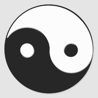 Yin & Yang Spiritual Harmony Asian Art Sticker