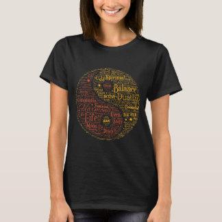 Yin Yang Spiritual Word Art T-Shirt