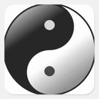 Yin Yang Square Sticker