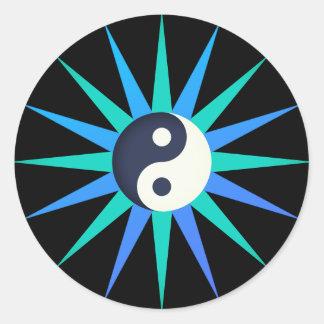 Yin Yang Star Classic Round Sticker