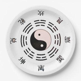 Yin Yang Style Paper Plate