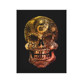Yin-Yang Sugar Skull 1974 - 11 x 14 Canvas Print