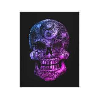 Yin-Yang Sugar Skull Miami- 11 x 14 Canvas Print