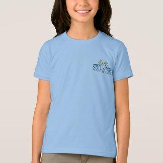 Yin/Yang Sun Back Girl's Ringer T-Shirt