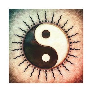 Yin Yang - sun I Canvas Print